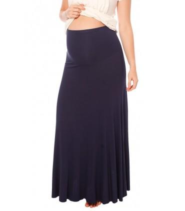 Falda de embarazo modelo David Azul Marino