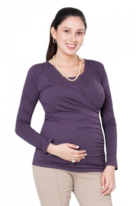 Polo de lactancia Raquel ML Morado