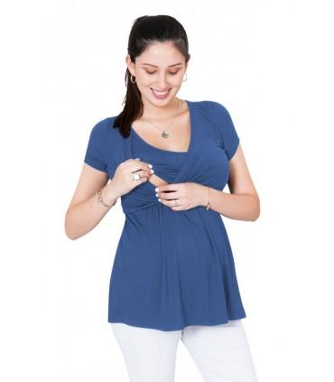 Polo de lactancia Suzete color Azul Karen manga corta