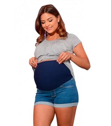 Short Jeans de Maternidad Denim color Claro