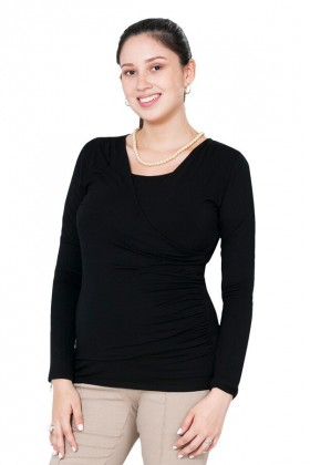 Polo de lactancia Raquel ML Negro