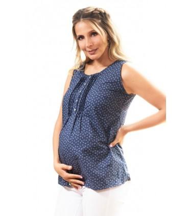 Blusa de Maternidad y lactancia Eda Flores Margarita