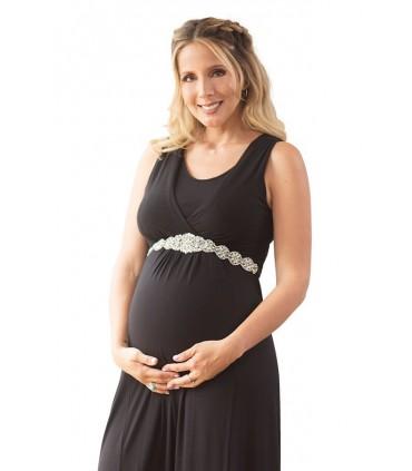 Vestido de Maternidad y lactancia Erika Negro