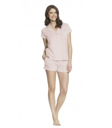 Pijama de lactancia con short Paige Rosa