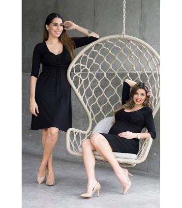 Vestido de lactancia Suzete color Negro