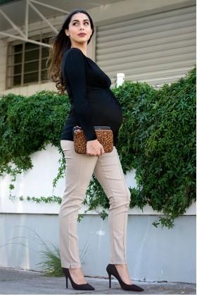 Pantalón de embarazo Tokio color Caqui