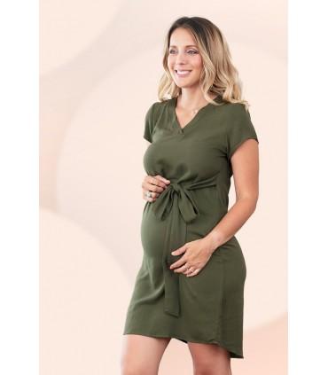Vestido de Maternidad Diana Verde Militar