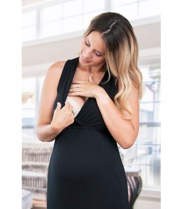 Vestido de Maternidad y Lactancia Lupe negro