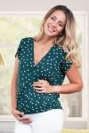 Blusa de Maternidad y Lactancia Bianca Lunares Blancos