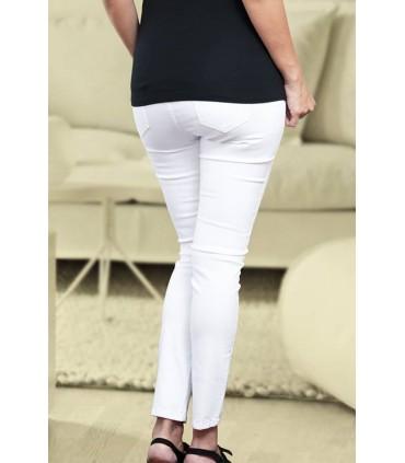 Jeans de Maternidad Denim Blanco