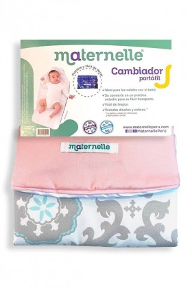 Cambiador Portátil Maternelle rosa