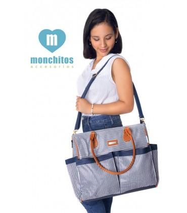 Bolso de Paseo Azul Monchitos