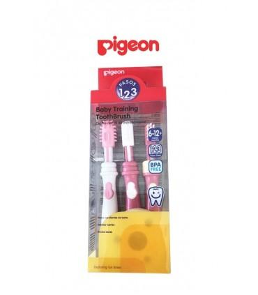 Juego de Cepillo Dental Rosa Pigeon