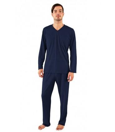 Pijama para Hombre Manga Larga con Pantalón Navy