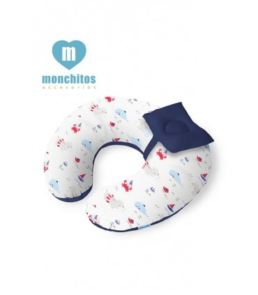 Cojín de Lactancia Croissi Pillow Playa Azul Monchitos