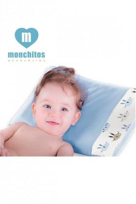 Almohada Fresh Pillow Conejos Celeste Monchitos