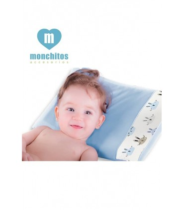 Almohada Fresh Pillow Conejos Celeste Monchitos