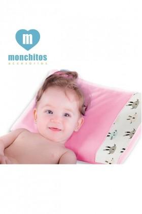 Almohada Fresh Pillow Conejos Rosa Monchitos