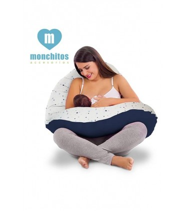 Almohadón Multifuncional pre y post natal Monchitos Playa Roja