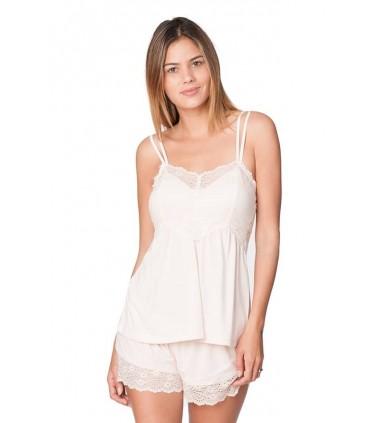 Conjunto Pijama con Short Amelie Rosa