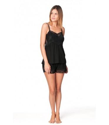 Conjunto Pijama con Short Amelie Negro