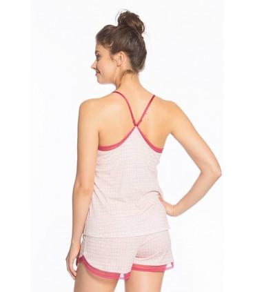 Pijama con Short Brianet Rombos Rojos