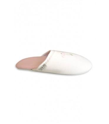 Pantuflas de mujer S&B Flor Ivory