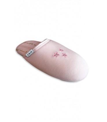 Pantuflas de mujer S&B Flor Rosa