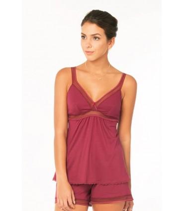 Pijama con Short Rebeca Vino