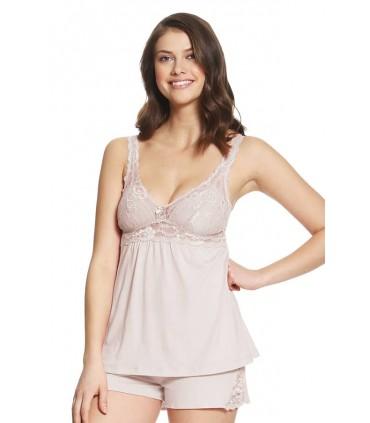Pijama con Short Penélope Rosa