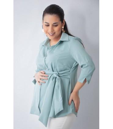 Blusa de Maternidad y Lactancia Donatella Verde