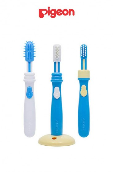 Juego de Cepillo Dental Azul Pigeon