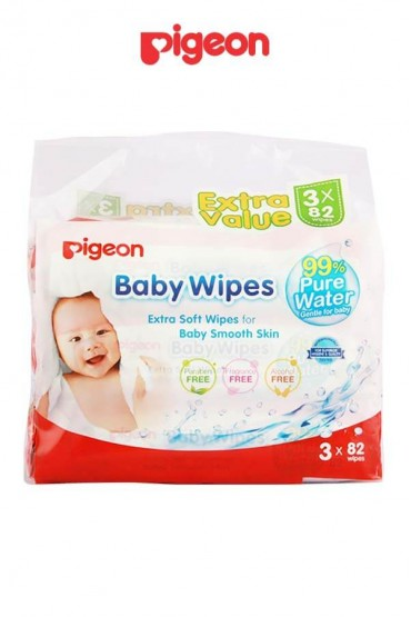 Toallitas Humedas Baby Wipes Pigeon 3 x 82wipes