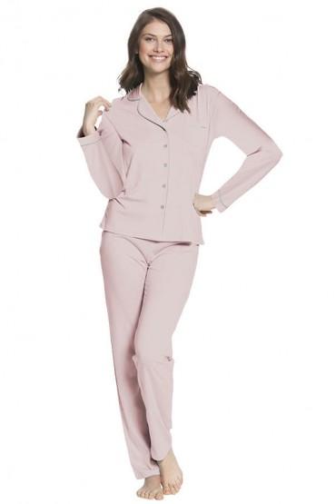 Pijama de Lactancia Paige Rosa - PD