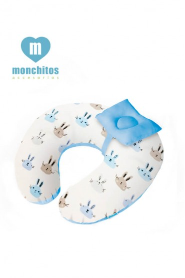 Cojin de Lactancia Croissi Pillow Playa Azul Monchitos