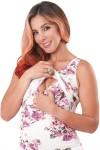 Vestido de maternidad y lactancia Carmen flores rosas