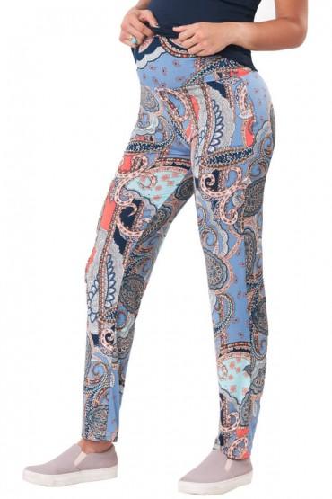 Pantalon yoga Relax con faja adaptable estampado caiguas