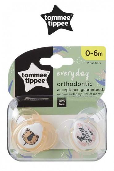 Chupones Everyday  naranja de 0 - 6 meses Tommee Tippee