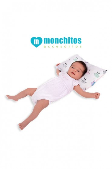 Almohada Anti-Cabeza Plana Xtraconfort Monchitos