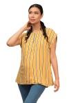 Blusa de Maternidad y Lactancia Tania Rayas Amarillas