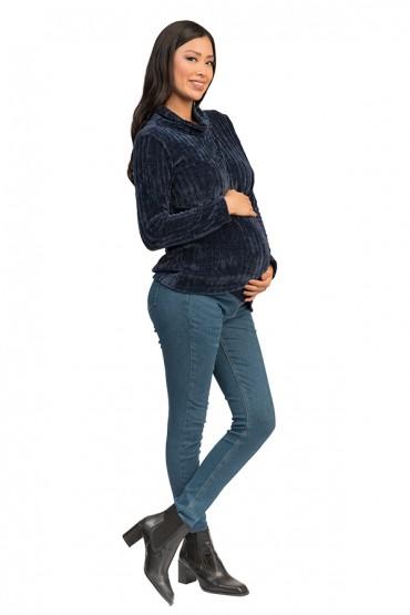 Polera de Maternidad y Lactancia Antuane Azul