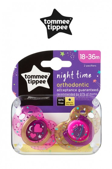 Chupones Night Time Tommee Tippee fucsia de 18 - 36 meses Tommee Tippee
