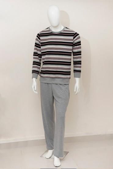 Pijama para Hombre Rayas Rosa