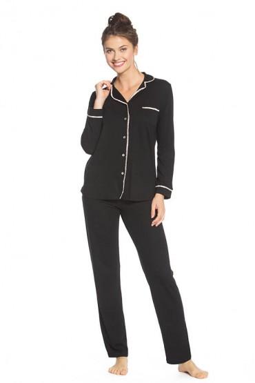 Pijama de lactancia con pantalón modelo Sophie Basic negro