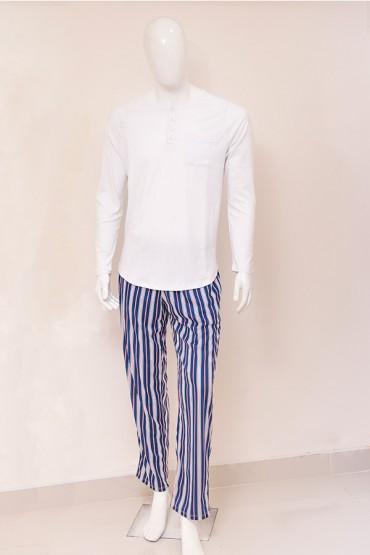 Pijama para Hombre Rayas Azul