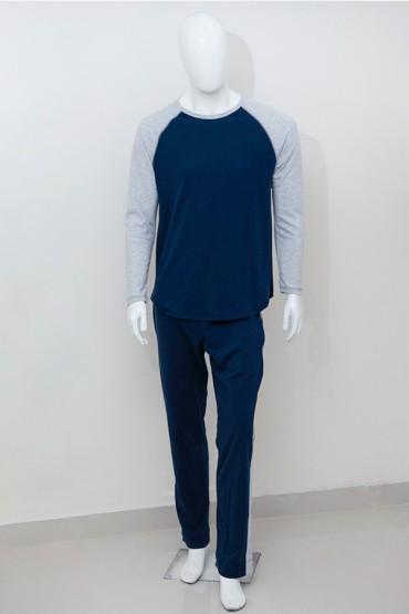 Pijama para Hombre Azul Gris