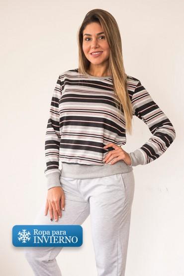 Pijama Micaela Rayas Rosa