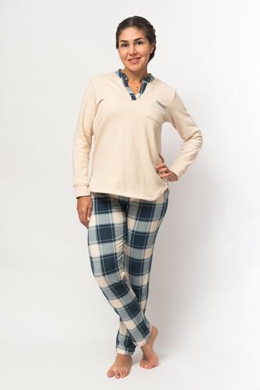 Pijama Eileen Cuadros Azules
