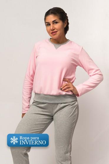 Pijama Micaela Gris Rosa