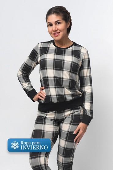 Pijama Micaela Cuadros Negros